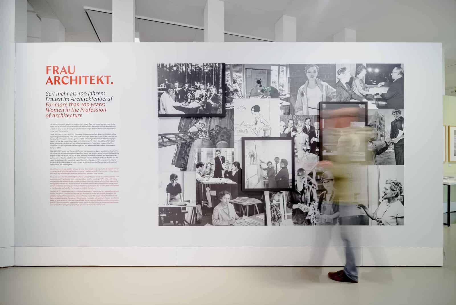 Eindrücke der Ausstellung FRAU ARCHITEKT \ Foto: Moritz Bernoully