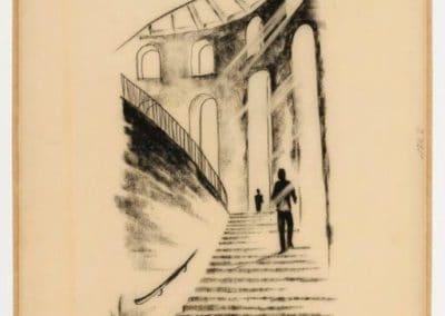 Planungsgemeinschaft Paulskirche, Entwurf des Treppenaufgangs zum Saal, ca. 1946