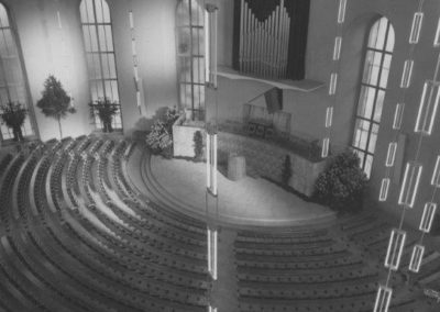Blick aus dem Regieraum in den Saal, 1948