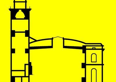 Schnitt durch die wieder aufgebaute Paulskirche (1948)