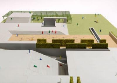 Modell 1:100: Dachgarten I © Moritz Bernoully/Felix Jäger/HSRM