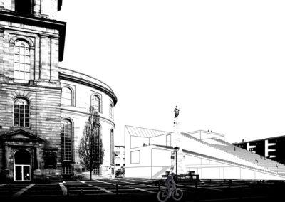 Blick auf den Paulsplatz I Sandra Voss/Holger Kleine/HSRM